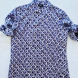 TALBOTS Popover Top Shirt Blouse Purple Size 6P